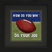 "Diamond Decor ""Football"" Framed Sports Print Art, 14"" x 14"""