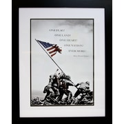 "Diamond Decor Professionally ""Flag Raising On Iwo Jima, c.1945"" Framed Print Art, 26"" x 32"""