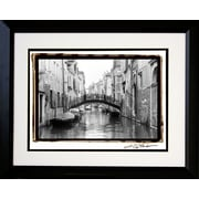 "Diamond Decor ""Waterways of Venice XVII"" Professionally Framed Photograph, 19"" x 23"""