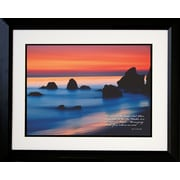 "Diamond Decor ""Smooth Water"" Framed Print Art, 18"" x 22"""