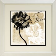 "Diamond Decor ""Flowers From Light"" Framed Print Art, 19"" x 19"""