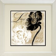 "Diamond Decor ""Light From Darkness Flower"" Framed Print Art, 19"" x 19"""