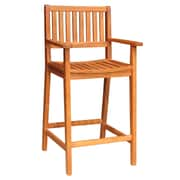 "International Concepts Acacia 29.4"" Wood Oiled Barheight Stool With Arms"