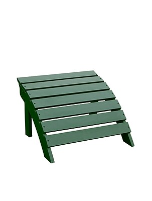 International Concepts Solid Wood Adirondack Footrest, Hunter Green