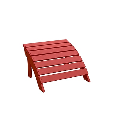 International Concepts Solid Wood Adirondack Footrest, Red