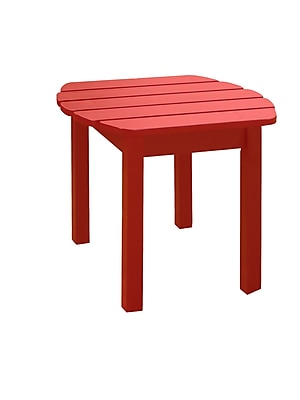 International Concepts Solid Wood Sidetable, Red