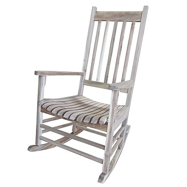 International Concepts Acacia Wood Rocker Chair, Unfinished