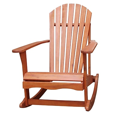 International Concepts Acacia Wood Adirondack Rocker Chair, Olied