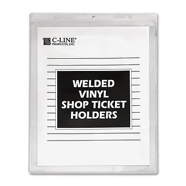 C-line - Porte-étiquettes en vinyle à sceller, 8 x 5 po, 50/paquet