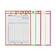 "C-line Shop Ticket Holder, 9"" x 12"", Assorted Colour Edges, 25/Pack"