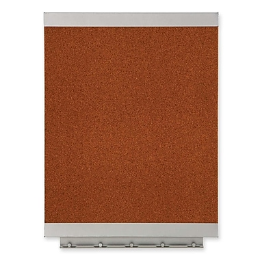 Quartet – Babillard en tissu écologique, cadre en acier, 17 po x 11 po