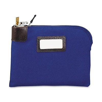 MMF Industries™ Locking Night Deposit Bag, Royal Blue, Durablock® 600 Denier Laminated Polyester, 8 1/2