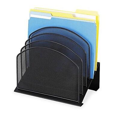 Safco – Range-tout à 5 niveaux en mailles Onyx, 12 x 11 3/10 x 7 3/10 (po), noir