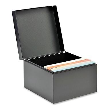 SteelMasterMD – Boîte robuste pour fiches de classement, 6 x 8 1/2 po, noir