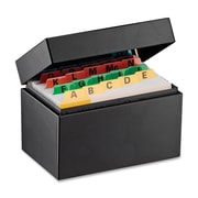 "SteelMaster® Index Card File Box, 3"" x 5"", Black"
