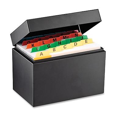 SteelMasterMD – Boîte pour fiches d'index, 4 x 6 po, noire