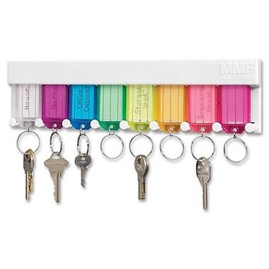 MMF - Support pour clés multicolore, 2 4/5 x 10 1/2 x 1/2 (po), 8 fentes