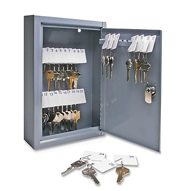 Sparco All Steel 30-Key Hook Design Cabinet with Security Lock, 8