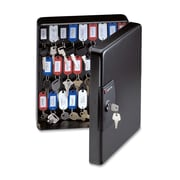 """Sentry Safe Key Box with Key Tags and Labels, 9-4/9"""" x 3-87/100"""" x 11-81/100"""", Black"""