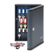 "SteelMaster® 30-Key Cabinet with Security Key Lock, 8-1/2"" x 2-2/5"" x 11-3/5"", Charcoal"