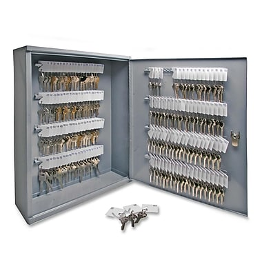 Sparco All Steel 160-Key Hook Design Cabinet with Security Lock, 16-1/2