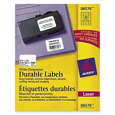 Avery® Permanent Durable ID Labels, 1-1/4