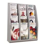 Deflect-o - Porte-documentation mural ou de comptoir, format dépliant, 19 4/5 x 15 4/5 x 5 po, 12 pochettes, gris