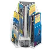 Safco - Présentoir à brochures à dessus en triangle 6 compartiments Reveal, 12 4/5 x 9 4/5 x 9 4/5 (po), transparent