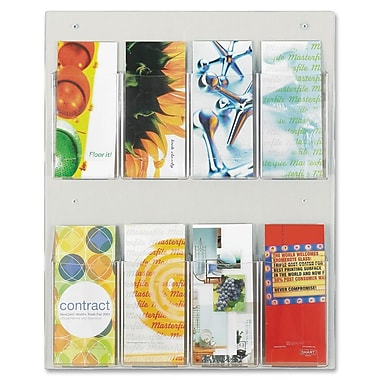 Safco Clear2c 8-Compartment Pamphlet Display, 23-1/2