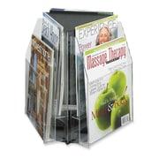 Safco - Présentoir et trieuse d'imprimés à 2 niveaux et à 6 poches, 14 x 15 x 15 po, transparent