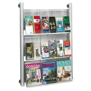 Safco Luxe Compartment Magazine Racks, Silver Frame