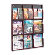 Safco - Présentoir d'imprimés Expose de 9 à 18 compartiments personnalisables, 38 3/10 x 29 4/5 x 2 1/2 po, acajou