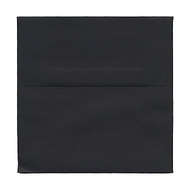 JAM Paper® 5.5 x 5.5 Square Envelopes, Black Linen Recycled, 100/Pack (v01210g)