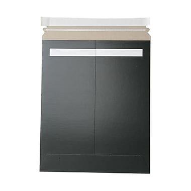 Jam PaperMD – Enveloppes recyclées pour photos en papier kraft avec bande adhésive, 11 x 13 1/2 po, noir