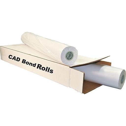 "TST Impresso 24 lbs. Wide Format CAD Uncoated Bond Paper, 42""(W) x 300'(L), 2/Roll"