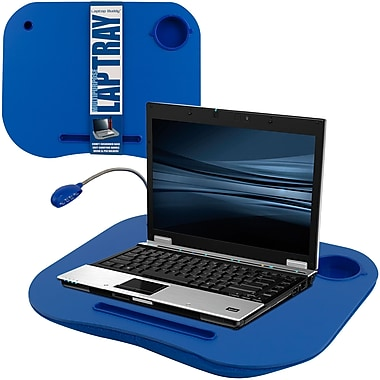TG Lap Desk with Built in Cushion, LED Light and Cup Holder - Blue (886511976115)