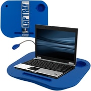 TG Lap Desk with Built in Cushion, LED Light and Cup Holder, Blue (886511976115) by