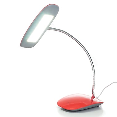 Northwest™ Touch Activated 18 LED USB Desk Lamp, Red