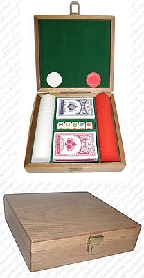 Trademark Poker 100 Poker Chip Gift Set, Oak 281458