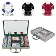 Trademark Poker™ 200 Lucky Crown Chip Set With Clear Top Aluminum Case