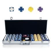 Trademark Poker™ 500 Striped Soprano Set With Aluminum Case