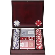 Trademark Poker™ 100 Chip Ace/King Suited Set With Beautiful Mahogany Case