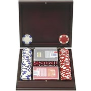 Trademark Poker™ 100 11.5gm Holdem Poker Chip Set With Beautiful Mahogany Case
