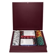Trademark Poker™ 100 Tri Color Ace Suited Chips With Mahogany Case