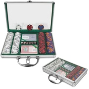 Trademark Poker™ 200 Chip Tri-Color Triple Crown Set With Clear Cover Aluminum Case