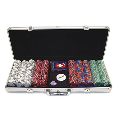 Trademark Poker™ 500 Chip Tri-Color Triple Crown Set With Aluminum Case