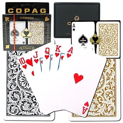 Copag Bridge Size Design Regular Index Card, Black/Gold