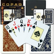 Copag Bridge Size Jumbo Index Card, Gold Line Script