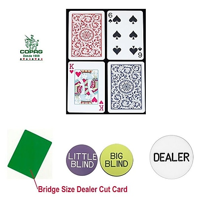 Copag Bridge Size Regular Index Cards and Dealer Kit