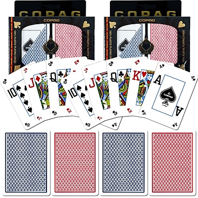 Copag Poker Size Peek Index Card, Blue/Red Set of 2